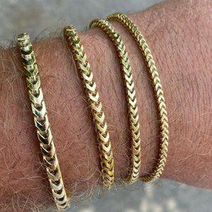 Other - 14K Gold Plated SOLID 925 STERLING SILVER Bracelet